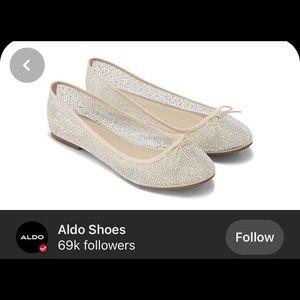 New Aldo Sparkly Mesh Ballet Flats